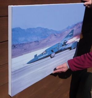 Wingfoot Express II rocket car . Bobby Tatroe at speed Bonneville 1965. CANVAS (30x20 inch)